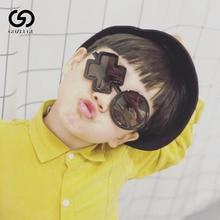 2019 Boy girl goth round children sunglasses simple fashion XO irregular steampunk