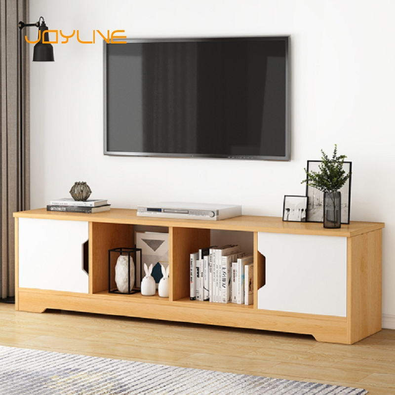 JOYLIVE European Wood Table Living Room Furniture Tv Stand Entertainment Center Computer Monitor