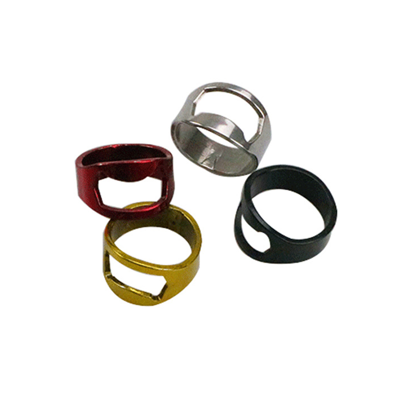 Piece Practical Gadget Multi-function Stainless Steel Color Ring Shape Beer Bottle Opener Ring Household Accessories