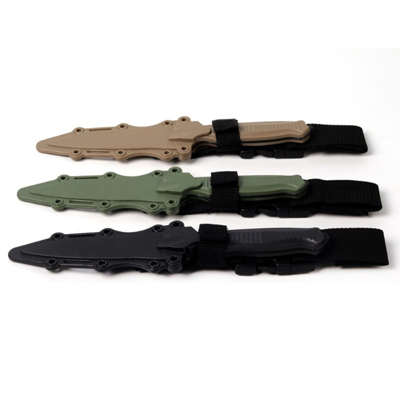 Outdoor Enthusiasts M9 Cs Cosplay Prop Combat Bayonet Modeling Rubber Train Sheath Knife Model Toy Sword