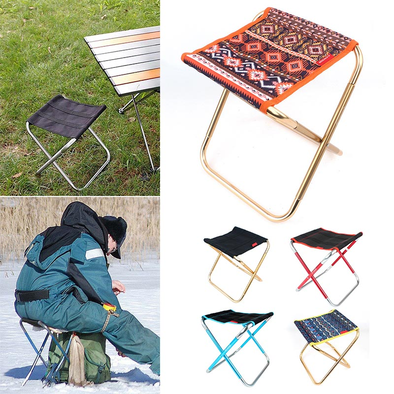 Travel Ultralight Folding Chair Superhard High Load Outdoor Camping Chair Portable Beach Hiking Picnic Seat Fishing Chair MF