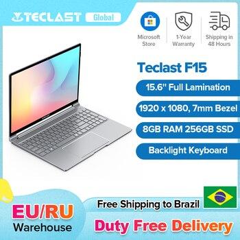 Teclast F15 Windows 10 Laptop 15.6'' Backlit Keyboard 1920x1080 FHD Intel Gemini Lake N4100 8GB RAM 256GB SSD Notebook 1