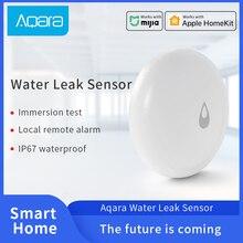 Aqara su sensörü IP67 su daldırma dedektörü Mijia akıllı ev uzaktan Alarm güvenlik ile çalışmak Aqara Hub
