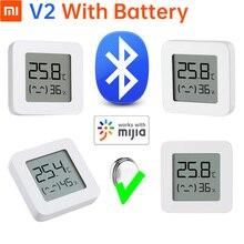 Oryginalny Xiaomi Mijia Bluetooth temperatura i monitor wilgotności 2 termometr hydrometr T & H HT inteligentny dom Super długi czas czuwania