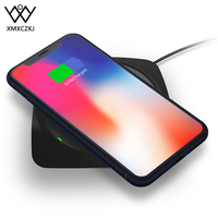 XMXCZKJ Universal Qi Wireless Charger Smartphone Desk Fast Charging Mat Silicone Mobile Cell Phone Holder For iPhone 11 X Stand