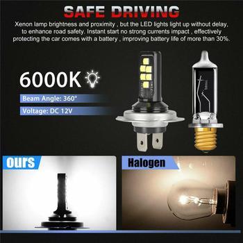 Samochód H7 H4 Combo zestaw reflektorów LED żarówki wysoka martwa wiązka 60W 52000lm 6000K zestaw żarówki reflektorów samochodowych (LED) światła samochodowe tanie i dobre opinie CN (pochodzenie) universal 12 v 6000 k White above 50000hrs support H7 H4 DC 12V IP67 360 degree 6000K White