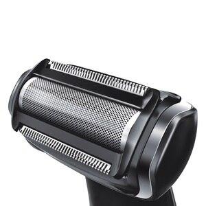 Image 2 - Profesyonel elektrikli tıraş makinesi saç giyotin vücut groomeing yüz tıraş makinesi elektrikli razor sakal düzeltici erkekler için vücut geri kiti