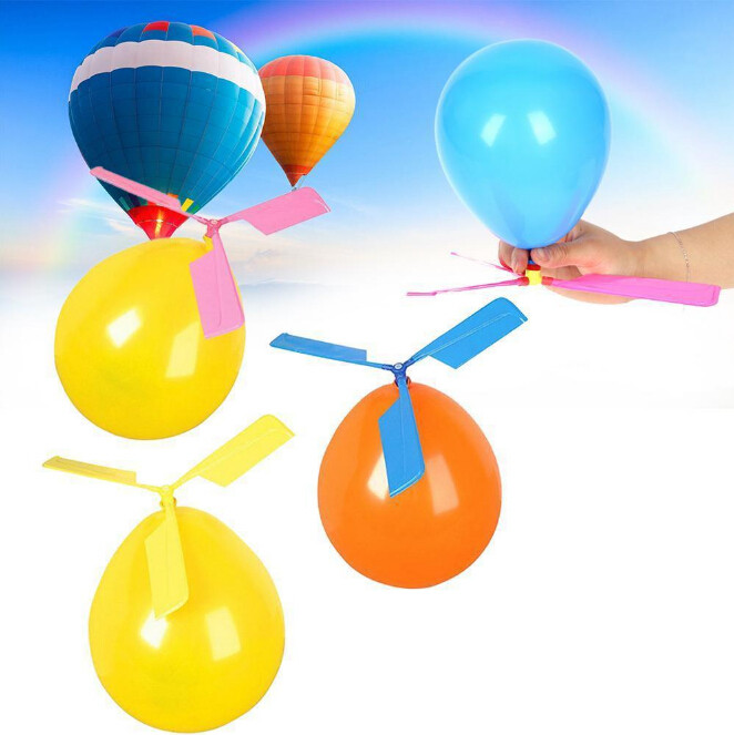 Funny Classic Sound Balloon Helicopter UFO Kids Child Children Play Flying Toys Ball Outdoor Fun Sports