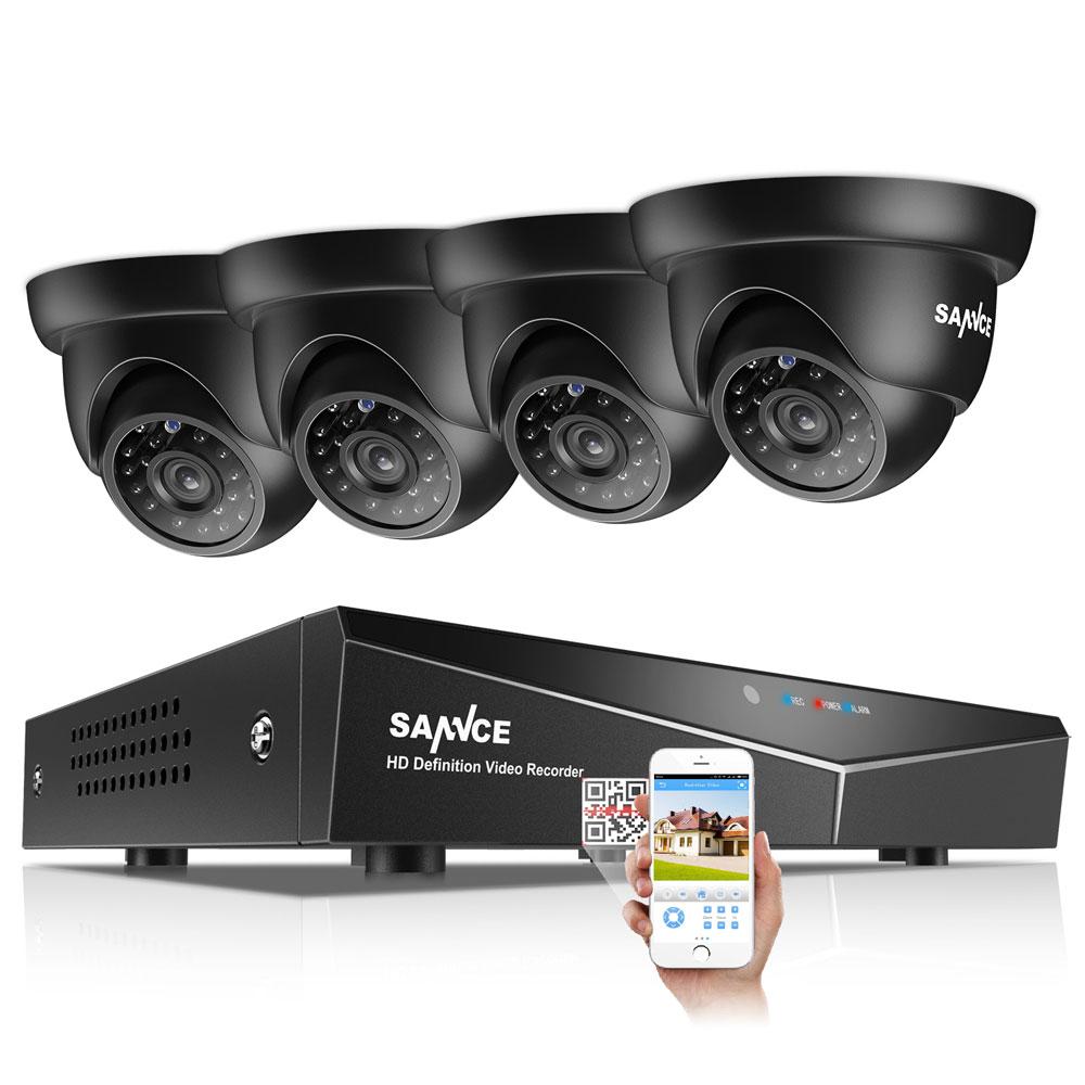 SANNCE 4CH CCTV SYSTEM 5 in 1 TVI HDMI DVR 1 0 MP IR Outdoor Weatherproof