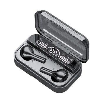 Écouteurs sans fil Bluetooth V5.0 TWS sans fil Bluetooth écouteurs LED affichage avec batterie externe 2000mAh casques avec Microphone