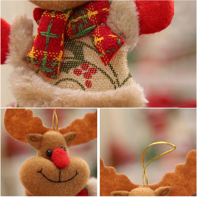 New Year 2020 Cute Santa Claus/Snowman/Angel Christmas Dolls Noel Christmas Tree Decoration for Home Xmas Navidad 2019 Kids Gift 31