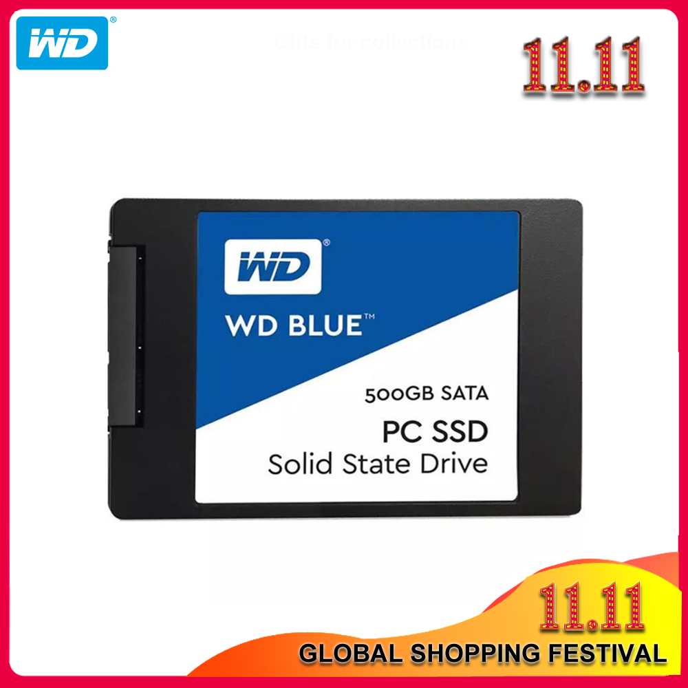 100% Original Western Digital Blue SSD 250GB 500GB SATA 3 2.5 inch Internal Solid State Drive Hard Disk 1TB 2TB For Notebook PC title=