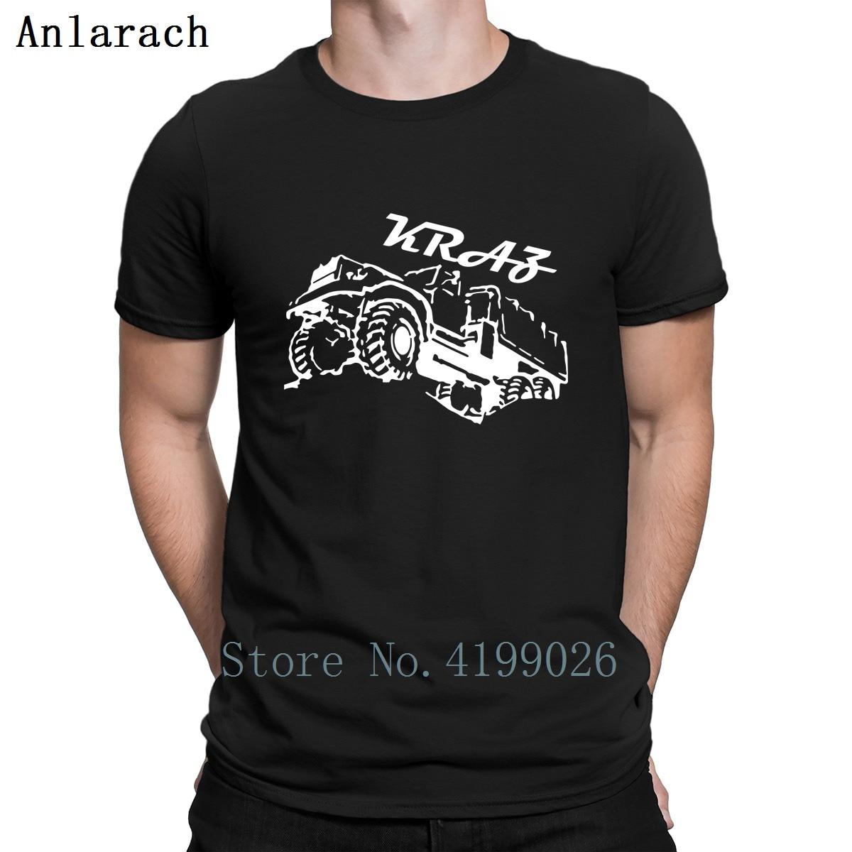 Kraz Trucker/футболка с круглым вырезом для всей семьи; сезон весна; коллекция 2019 года; Однотонная футболка на заказ; индивидуальная свободная футболка в строгом стиле
