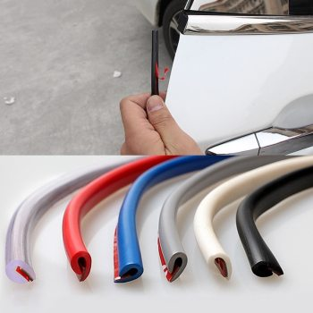 Car Door Edge Guard Rubber Seal Protector Guard Strip 5M/10M Auto Door trips Rubber Edge Protective Strips Side Doors Moldings image