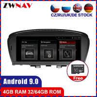 Reproductor multimedia con Android 9.0 y navegación GPS para BWM, radio de coche estéreo con procesador de 8 núcleos, 4GB ram y 64GB rom, reproducción de vídeo, mapas gratuitos, para BMW 7er E65 E66 2008-2012