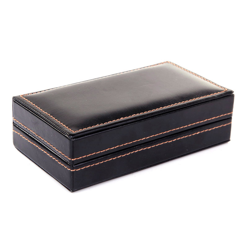 Cufflinks Box Men's Unisex Jewelry Box (excluding Cufflinks) (Can Fit Four Pairs Of Cufflinks) High-grade PU Leather Gifts Box