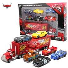 7 Pçs/set Disney Pixar Carro 3 Tempestade Relâmpago McQueen Jackson Tio Mack Truck 1:55 Diecast Metal Modelo de Carro de Brinquedo Menino de Presente de Natal