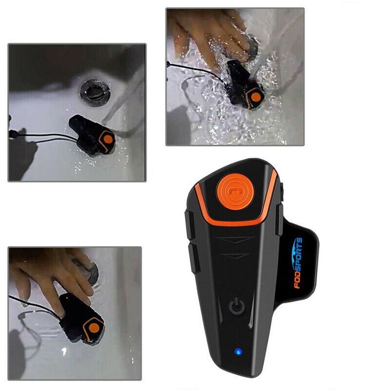 Image 3 - Fodsports BT S2 Pro Motorcycle Intercom Helmet Headset Wireless Bluetooth Waterproof Interphone Intercomunicador Moto FM-in Helmet Headsets from Automobiles & Motorcycles