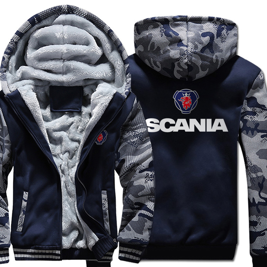 Sweatshirts Coats Hoodies Zipper-Jackets Autumn SCANIA Male Winter Casual Camouflage