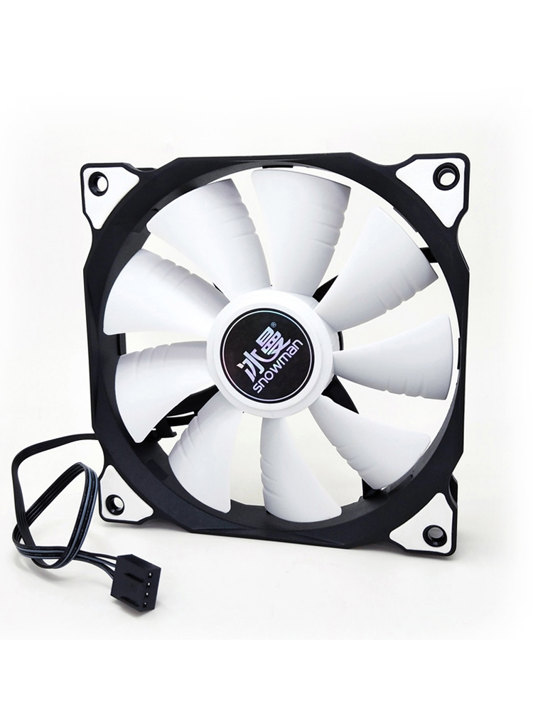 SNOWMAN PC Cooler Fan-Case Computer-Case Cpu-Cooling-Fan 12cm Fan Fan Silent Quiet Fans 12v