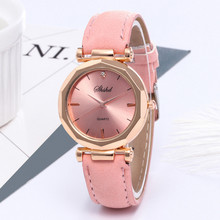 Watch women Leather Luxury Analog Quartz Crystal Lover's Gift Reloj Mujer Dress