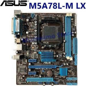 100% original motherboard ASUS M5A78L-M LX AMD FX DDR3 16GB AM3 AM3+ 16GB 760G 760L Desktop uATX M5A78L M LX mainboard Used