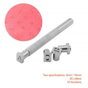 36Pcs Alphabet Brief Leder Stamper Set Stahl Punch Metall Leder Stanzen Werkzeuge Für DIY Leder Handwerk Werkzeuge 4mm /6mm