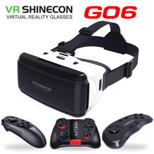 цена на VR Shinecon G06 Virtual Reality Glasses 3D VR box Smartphone Headset Helmet Goggle Video Game For iPhone Android Smart Phone