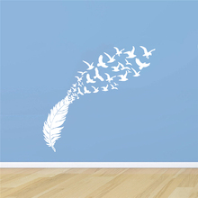 Delicate Feather Bird Decorative Vinyl Wall Stickers Bedroom Decor Decals Sticker For Kids Room Decoration Wallstickers