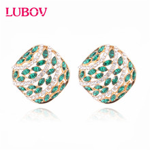 LUBOV 2020 New Korean Vintage Geometic Earrings for Women Girls BOHO Resin Stud Earrings Brincos Fashion Tortoise Jewelry