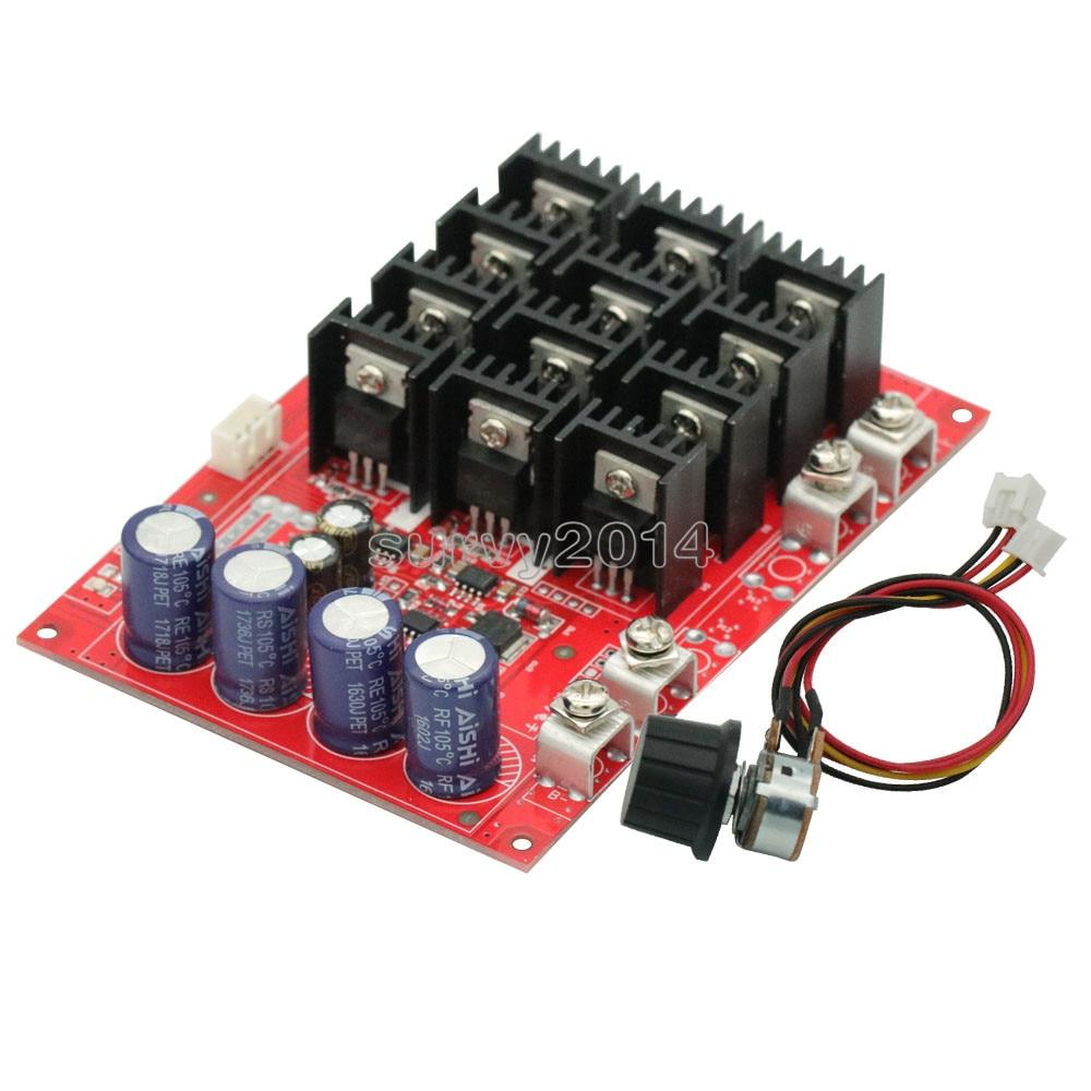 3000W 60A 50V Speed Controller PWM Motor Speed Regulator DC 10-50V Voltage Regulator Control Switch For LED Light Emitting