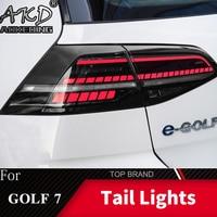 Dla samochodów VW Golf 7 lampa tylna 2013-2017 LED światła przeciwmgielne światła do jazdy dziennej DRL Tuning akcesoria samochodowe Golf7 Mk7 światła tylne