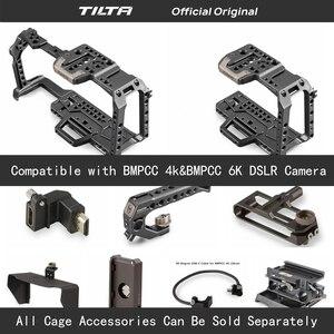 Image 1 - Tilta TA T01 A G מלא מצלמה כלוב כל סט אביזרי עבור BMPCC 4K/6K מצלמה למעלה ידית עץ צד ידית F970 סוללה