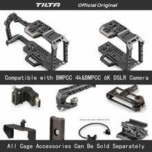 Tilta TA T01 A G كامل كاميرا قفص كل مجموعة اكسسوارات ل BMPCC 4K/6K كاميرا أعلى مقبض خشبي الجانب مقبض F970 البطارية