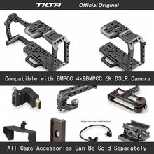 Tilta TA T01 A G Full Camera Cage all set accessories for BMPCC 4K/6K Camera Top Handle Wooden Side Handle F970 Battery