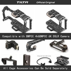Image 1 - Tilta TA T01 A G كامل هيكل قفصي الشكل للكاميرا كل مجموعة اكسسوارات ل BMPCC 4K/6K كاميرا أعلى مقبض خشبي مقبض جانبي F970 البطارية
