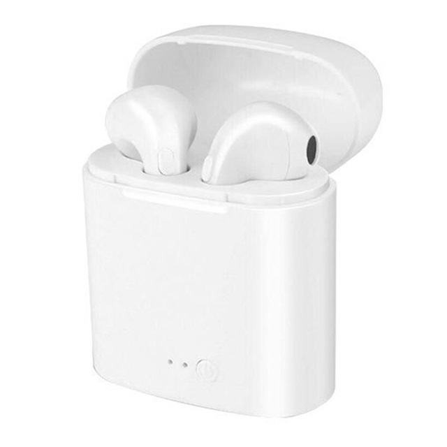 I7s I7 Wireless Earphones With Charger Box Bluetooth Headset In Ear Invisible Earbud+ Mic USB  Portable Stereo Earphone