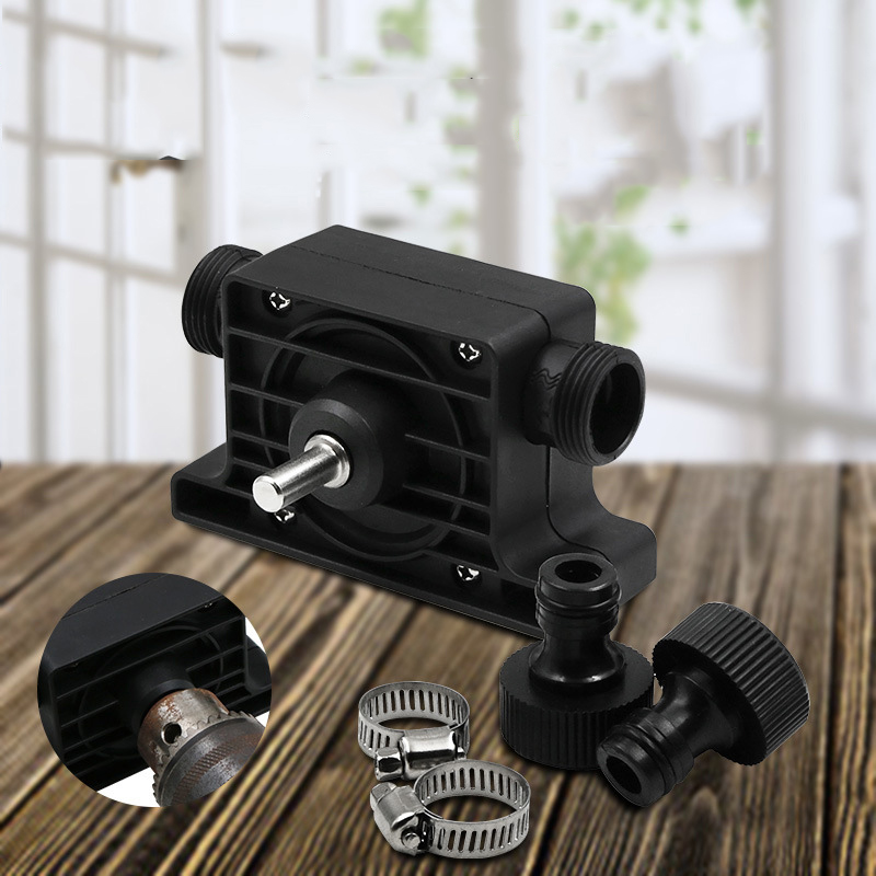 New Micro Pump Electric Drill Drives Large Flow Pump Portable Pump Standard Two Connectors Electric Drill Drive Pump
