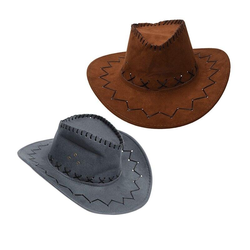Retro Unisex Denim Wild West Cowboy Cowgirl Rodeo Fancy Dress Accessory Hats ZC
