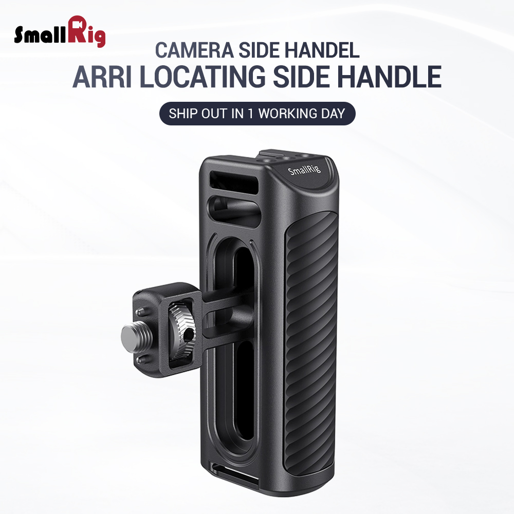 SmallRig Camera Hand Grip Aluminum Arri Locating Side Handle for Sony , for Nikon Camera Cage W/ Cold Shoe Mount for DIY 2426