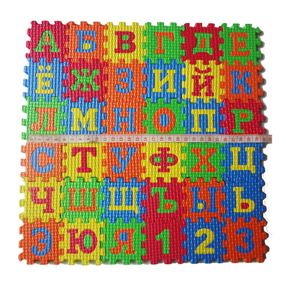 36Pcs/Set Newborn Baby Puzzle Carpet Toy Russian Alphabet Jigsaw Carpet EVA Baby Kids Puzzle Learning Mat Toy