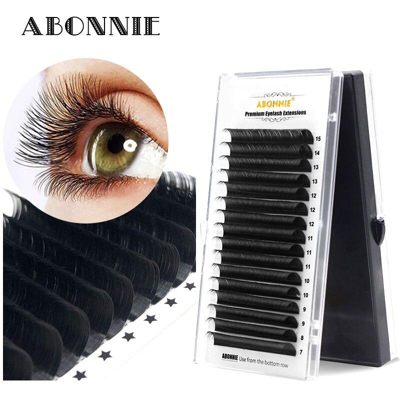 ABONNIE8-17 High Quality Eyelash Extension Mink,individual Eyelash Extension Natural Eyelashes Fake False Eyelashes