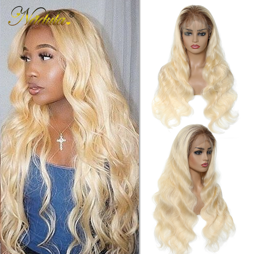 Nadula Wig 13*4/6 Lace Front Human Hair Wigs With Baby Hair Brazilian Remy Hair T4613 Blonde Wigs For Women Free Shipping