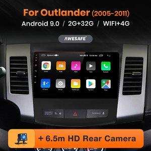 AWESAFE PX9 for Mitsubishi Outlander xl 2 2005-2011 Car Radio Multimedia video player GPS No 2 din Android 9.0 2GB+32GB(China)