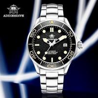 Nuovo Addiesdive Sea Ghost Diver orologi meccanici uomo zaffiro NH35A movimento C3 luminoso acciaio inossidabile 200m orologio automatico