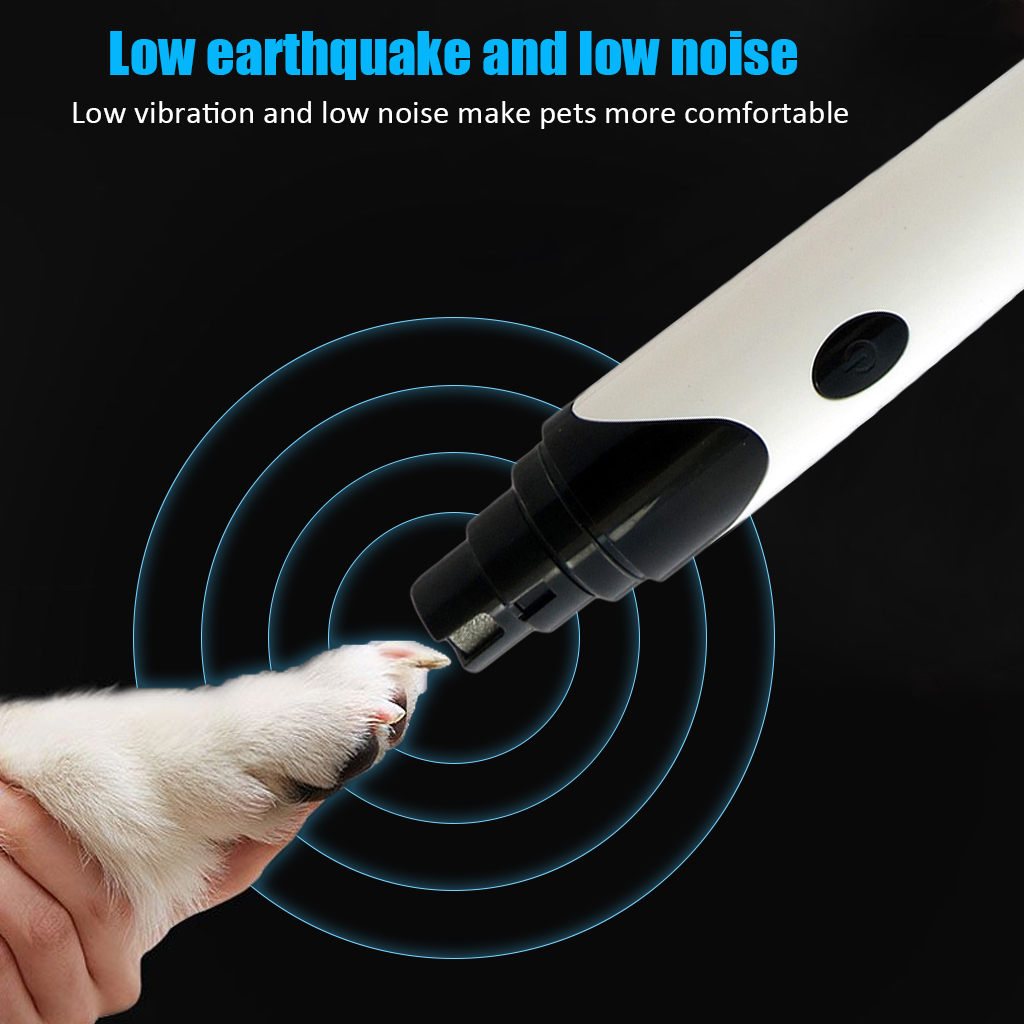 Rechargeable USB Pet Nails Grinder Dog Cat Care Grooming Dog Nail Grinder Automatic CleaningTrimmer Clipper Pet Paws Nail Cutter