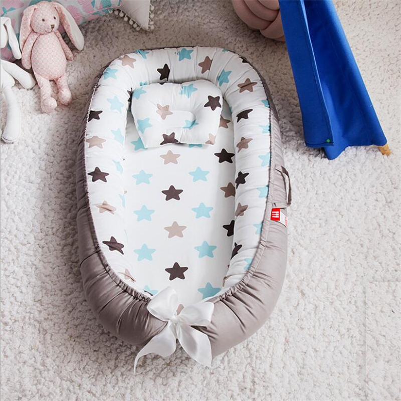 Potable Baby Nest Cotton Bionic Bed Washable Baby Bed Travel Crib Bed With Bumper Newborn Mattress For Infant