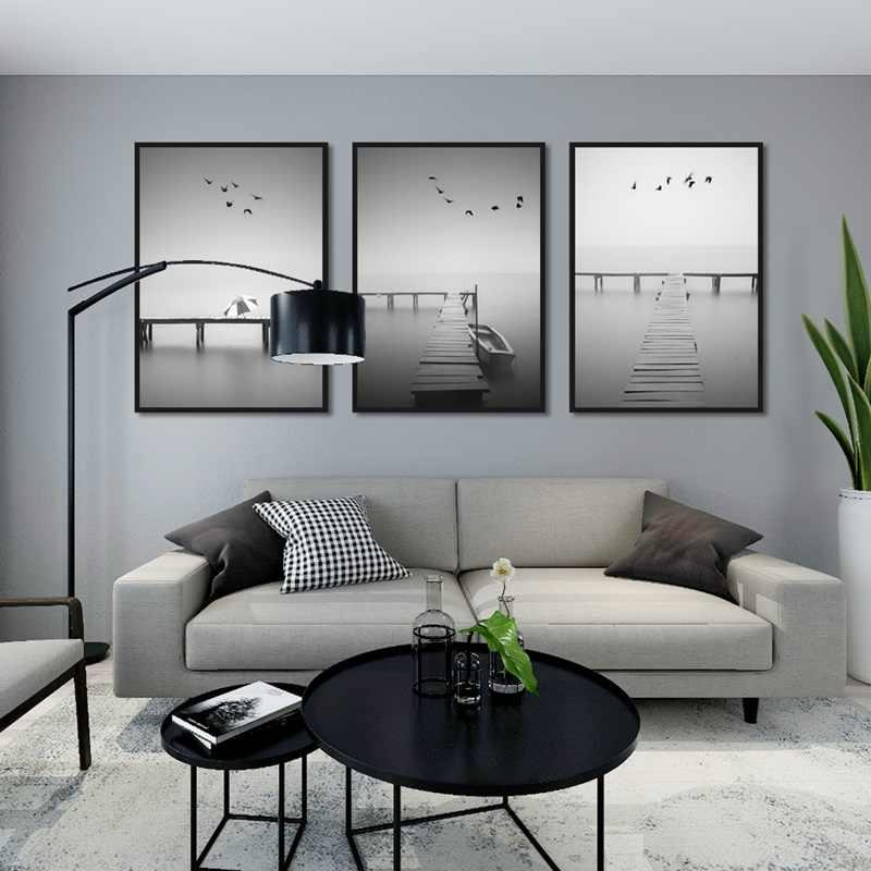 Современный натюрморт плакат печать морской пейзаж Картина на холсте прохода дома стены искусства граффити спальни современные украшения