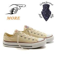 Converse новейшие босоножки на низком каблуке, со шнуровкой, тканевые женские кеды на шнуровке, кроссовки, 1970 Классические высокие холщовые кед...