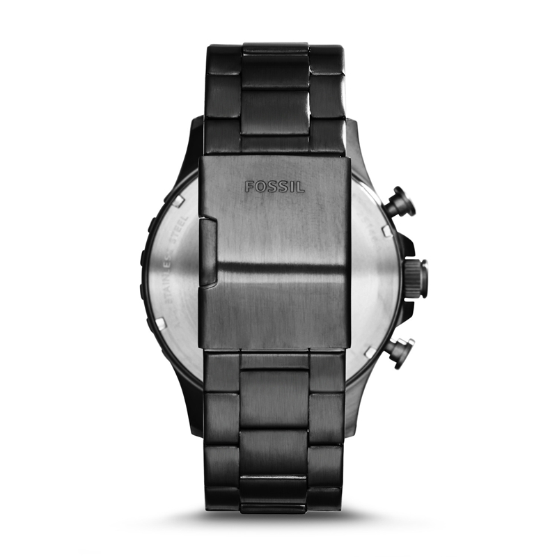 Fossil Nate Chronograph Rauch Edelstahl Uhr Schwarzes Zifferblatt Herren Uhren Top Brand Luxus Armbanduhr JR1478 - 2